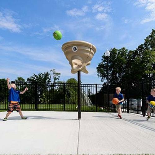 Triple Toss Playground Ball Game
