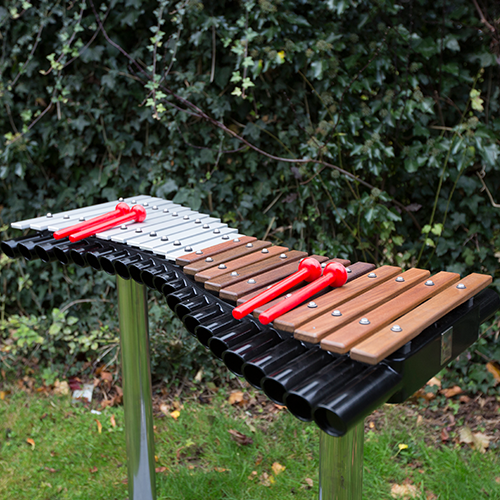 Duo Outdoor Musical Xylophones and Metallophones