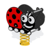 Lily Ladybug Minibeast Spring Rocker