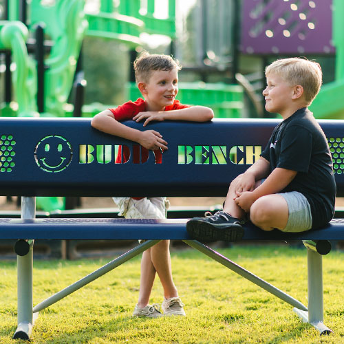 All Smiles Buddy Bench with Children
