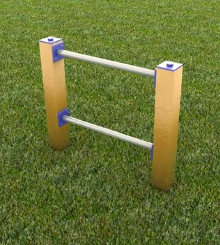Dog Play High Jump Posts