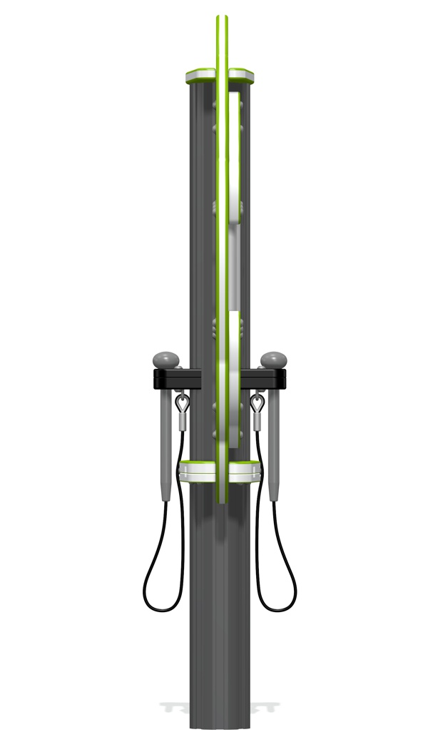 Virtuoso musical chimes tree side view