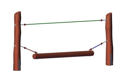 Adventure Course Wobble Beam Wood Posts